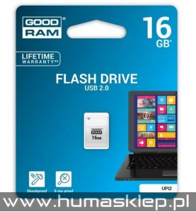 Pendrive Goodram Piccolo UPI2 USB 2.0 16GB biały Flash Drive