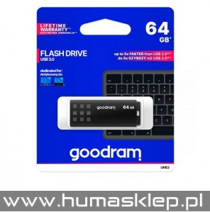 Pendrive Goodram UME3 USB 3.0 64GB czarny