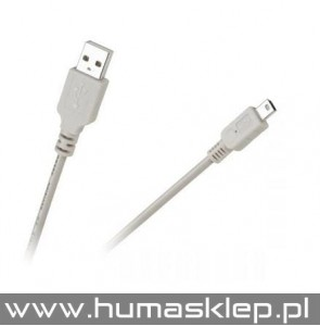 Kabel USB AM-BM mini USB do CANONA 1.5 metra+ filtr