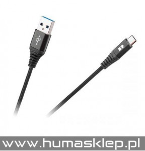 Kabel USB - USB typu C REBEL 2 metry czarny RB-6001-200-B
