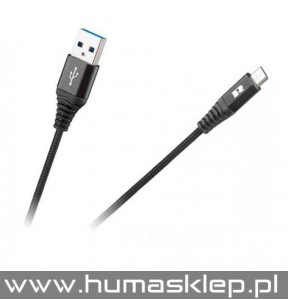 Kabel USB - USB micro REBEL 2 m czarny RB-6000-200-B